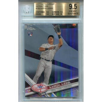 2017 Topps Chrome Refractor #169A Aaron Judge Catching BGS 9.5 *4476 (Reed Buy)