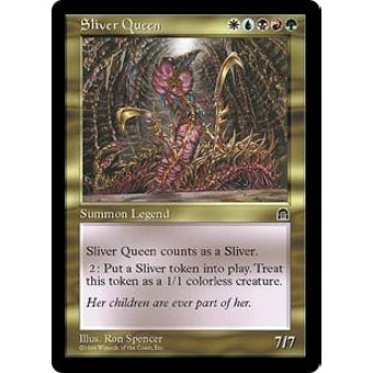 Magic the Gathering Stronghold Single Sliver Queen - NEAR MINT (NM) Artist Signed!