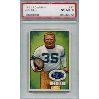 1951 Bowman #22 Joe Geri PSA 8 *3972 (Reed Buy)