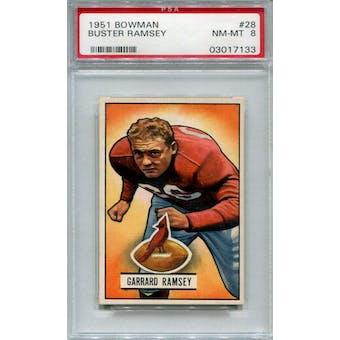 1951 Bowman #28 Buster Ramsey PSA 8 *7133 (Reed Buy)