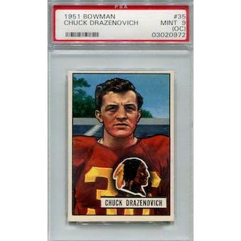 1951 Bowman #35 Chuck Drazenovich PSA 9OC *0972 (Reed Buy)