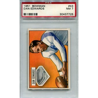 1951 Bowman #43 Dan Edwards RC PSA 7 *7725 (Reed Buy)