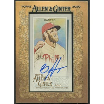 2020 Topps Allen and Ginter #MABH Bryce Harper Framed Mini Auto