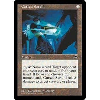 Magic the Gathering Tempest Single Cursed Scroll - NEAR MINT (NM)