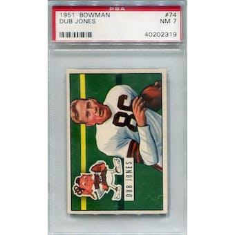 1951 Bowman #74 Dub Jones PSA 7 *2319 (Reed Buy)