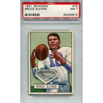 1951 Bowman #79 Bruce Alford RC PSA 7 *0912 (Reed Buy)