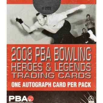 2008 Rittenhouse Heroes & Legends PBA Bowling Hobby Box