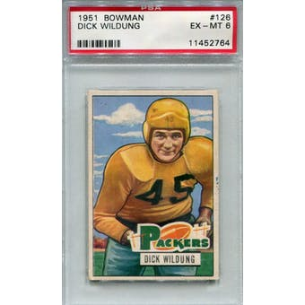 1951 Bowman #126 Dick Wildung PSA 6 *2764 (Reed Buy)