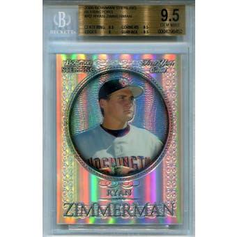 2005 Bowman Sterling Refractors #RZ Ryan Zimmerman BGS 9.5 *6452 (Reed Buy)