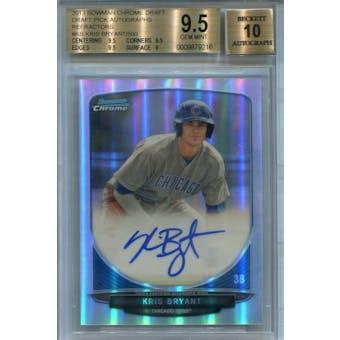 2013 Bowman Chrome Draft Pick Autographs Refractors #KB Kris Bryant #/500 BGS 9.5 Auto 10 *9216 (Reed Buy)