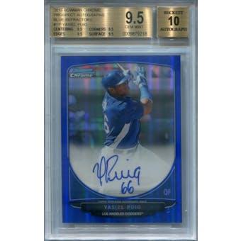 2013 Bowman Chrome Prospect Autographs Blue Refractors #YP Yasiel Puig BGS 9.5 Auto 10 *9218 (Reed Buy)