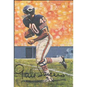 Gale Sayers Autographed Goal Line Art Card JSA #KK52293 (Reed Buy)