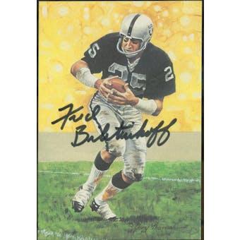 Fred Biletnikoff Autographed Goal Line Art Card JSA #KK52294 (Reed Buy)