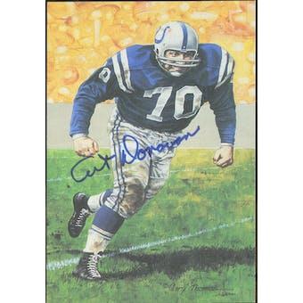 Art Donovan Autographed Goal Line Art Card JSA #KK52296 (Reed Buy)