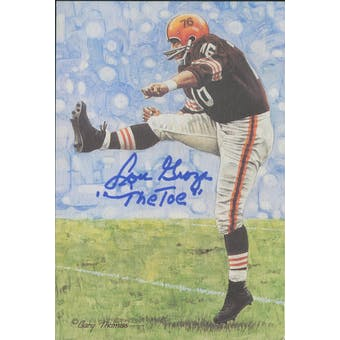 "Lou Groza Autographed Goal Line Art Card w/ insc ""The Toe"" JSA #KK52297 (Reed Buy)"