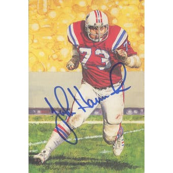 John Hannah Autographed Goal Line Art Card JSA #KK52298 (Reed Buy)