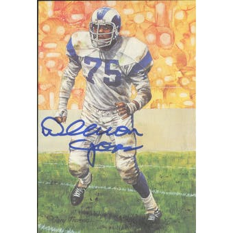 Deacon Jones Autographed Goal Line Art Card JSA #KK52299 (Reed Buy)