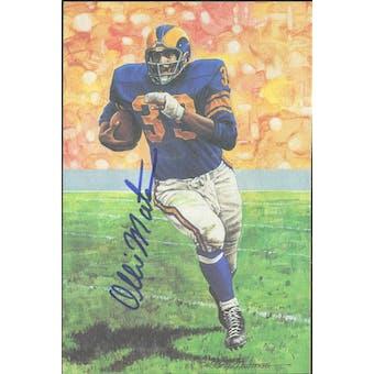 Ollie Matson Autographed Goal Line Art Card JSA #KK52301 (Reed Buy)