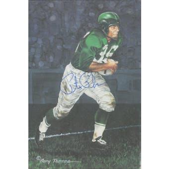 Pete Pihos Autographed Goal Line Art Card JSA #KK52304 (Reed Buy)
