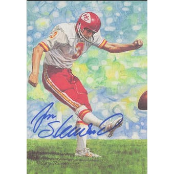 Jan Stenerud Autographed Goal Line Art Card JSA #KK52306 (Reed Buy)