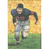Bulldog Turner Autographed Goal Line Art Card JSA #KK52307 (Reed Buy)