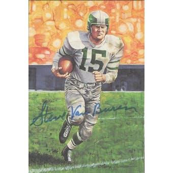 Steve Van Buren Autographed Goal Line Art Card JSA #KK52308 (Reed Buy)