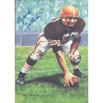 Frank Gatski Autographed Goal Line Art Card JSA #KK52312 (Reed Buy)