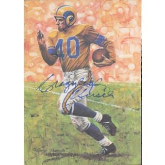 "Elroy ""Crazylegs"" Hirsch Autographed Goal Line Art Card JSA #KK52313 (Reed Buy)"