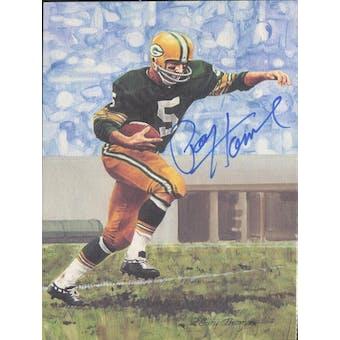Paul Hornung Autographed Goal Line Art Card JSA #KK52314 (Reed Buy)