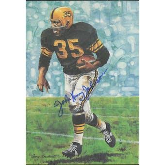 John Henry Johnson Autographed Goal Line Art Card JSA #KK52315 (Reed Buy)