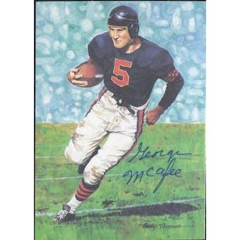 George McAfee Autographed Goal Line Art Card JSA #KK52317 (Reed Buy)