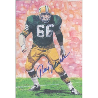 Ray Nitschke Autographed Goal Line Art Card JSA #KK52318 (Reed Buy)