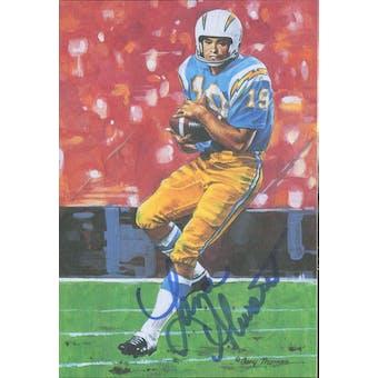 Lance Alworth Autographed Goal Line Art Card JSA #KK52322 (Reed Buy)