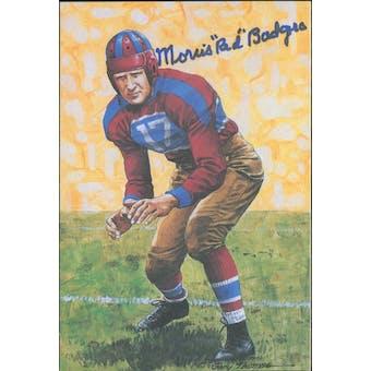 "Morris ""Red"" Badgro Autographed Goal Line Art Card JSA #KK52323 (Reed Buy)"