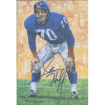 Sam Huff Autographed Goal Line Art Card JSA #KK52331 (Reed Buy)