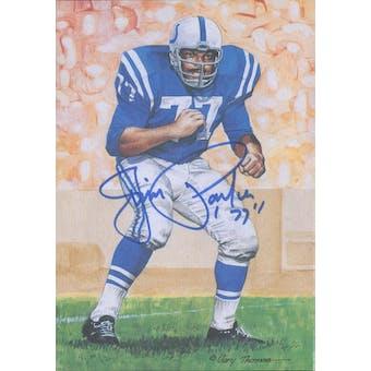 Jim Parker Autographed Goal Line Art Card JSA #KK52334 (Reed Buy)