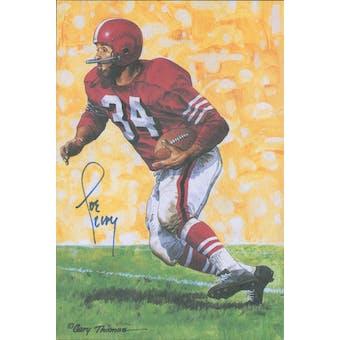 Joe Perry Autographed Goal Line Art Card JSA #KK52335 (Reed Buy)