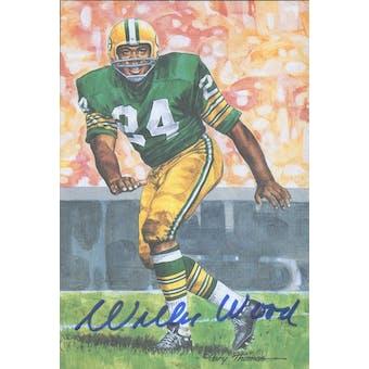Willie Wood Autographed Goal Line Art Card JSA #KK52338 (Reed Buy)