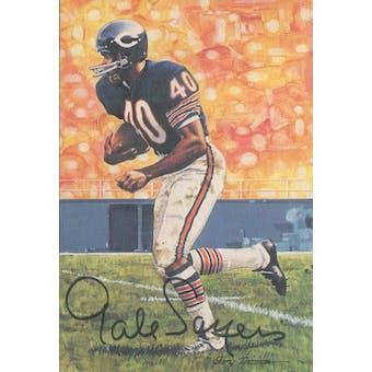Gale Sayers Autographed Goal Line Art Card JSA #KK52339 (Reed Buy)