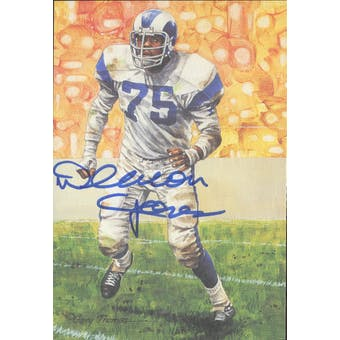 Deacon Jones Autographed Goal Line Art Card JSA #KK52345 (Reed Buy)
