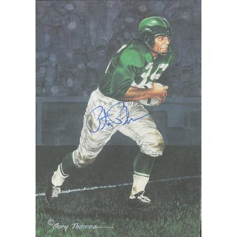 Pete Pihos Autographed Goal Line Art Card JSA #KK52350 (Reed Buy)