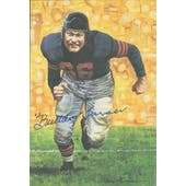 "Clyde ""Bulldog"" Turner Autographed Goal Line Art Card JSA #KK52353 (Reed Buy)"