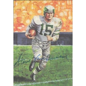 Steve Van Buren Autographed Goal Line Art Card JSA #KK52354 (Reed Buy)