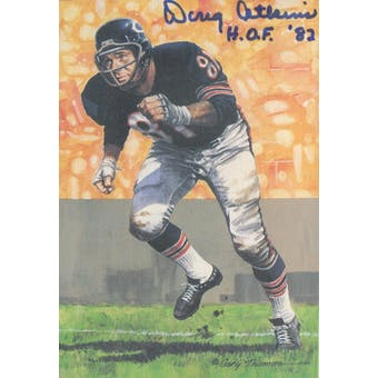 "Doug Atkins Autographed Goal Line Art Card w/ insc ""HOF '82"" JSA #KK52355 (Reed Buy)"