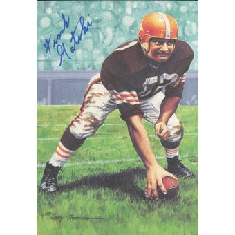 Frank Gatski Autographed Goal Line Art Card JSA #KK52358 (Reed Buy)