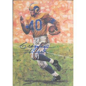 "Elroy ""Crazylegs"" Hirsch Autographed Goal Line Art Card JSA #KK52359 (Reed Buy)"