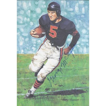 George McAfee Autographed Goal Line Art Card JSA #KK52363 (Reed Buy)