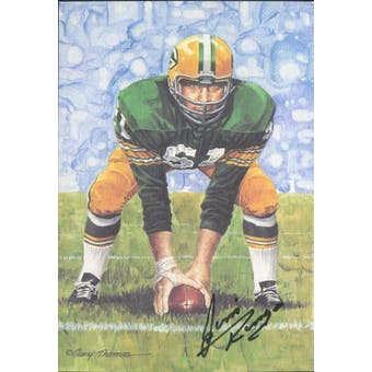 Jim Ringo Autographed Goal Line Art Card JSA #KK52365 (Reed Buy)