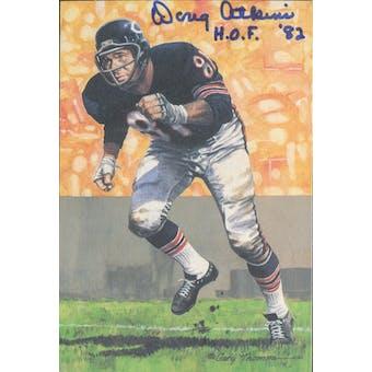 "Doug Atkins Autographed Goal Line Art Card w/ insc ""HOF '82"" JSA #KK52368 (Reed Buy)"