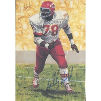 Bobby Bell Autographed Goal Line Art Card JSA #KK52369 (Reed Buy)